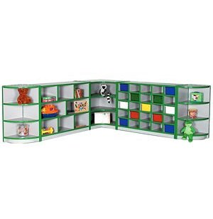Educational Edge Youth-Size Full Corner Cubby Storage