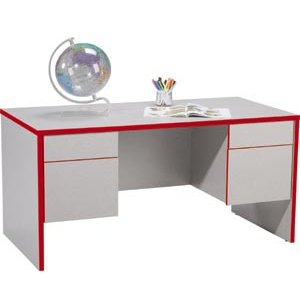Double-Pedestal Teachers Desk