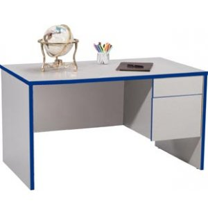 Single-Pedestal Teachers Desk