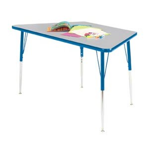 Educational Edge Trapezoid Activity Table