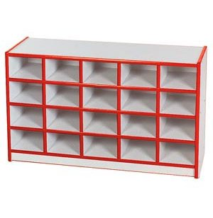 Educational Edge Preschool Cubby Storage - 20 Cubbies