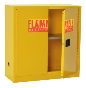 Flammable Liquids Safety Cabinet, 1 Shelf-30 Gal Cap