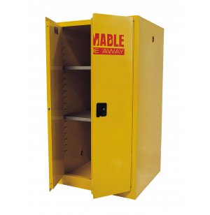 Flammable Liquids Safety Cabinet with 2 Shelves-60 Gal.