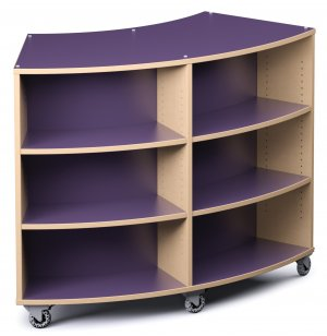 Palette Radius Mobile Library Shelving - Double-Sided
