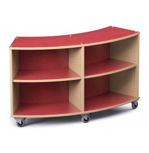 Palette Radius Mobile Library Shelving
