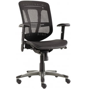 Eon Multifunction Mesh Office Chair with Fabric Seat