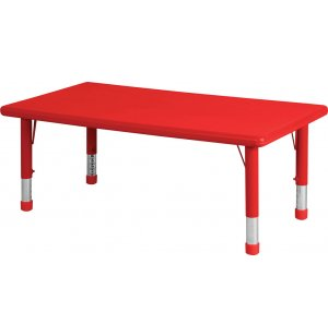 Adjustable Rectangle Resin Preschool Table