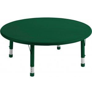Adjustable Round Resin Preschool Table