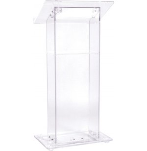 Clear Acrylic Podium w/Shelf
