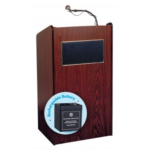 50 Watt Sound Lectern - Wireless Mic, Rechargeable Battery