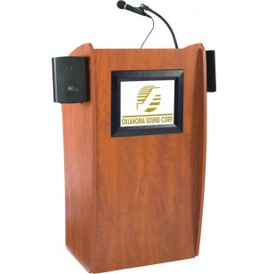 Vision Sound Lectern - LCD Screen, Wireless Mic, Battery