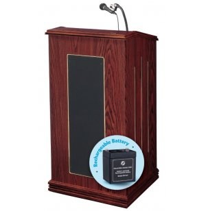 Prestige Sound Lectern - Wireless Mic, Rechargeable Battery