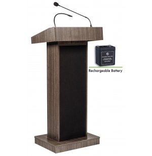 Orator Sound Lectern with Wireless Mic, Rechargeable Battery