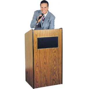 Radius Edge 50-Watt Sound Lectern with Wireless Mic
