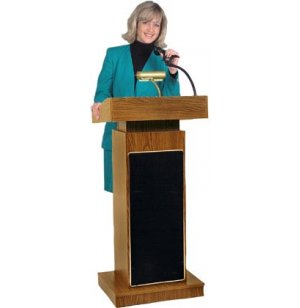 Orator Sound Lectern Adjustable Height Closeout