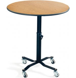 EZ-Tilt Adj. Height Mobile Round Cafe Table