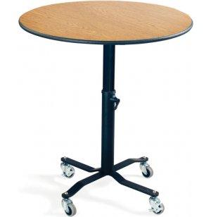 EZ-Tilt Adj. Height Mobile Round Cafe Table