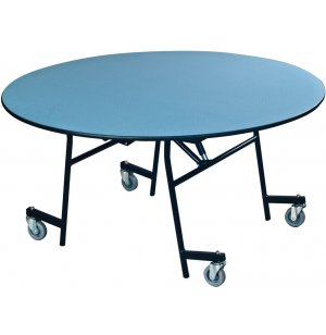 EZ-Tilt Mobile Folding Round Cafeteria Table