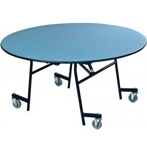EZ-Tilt Mobile Folding Round Cafeteria Table
