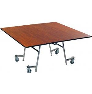 EZ-Tilt Mobile Folding Square Cafeteria Table