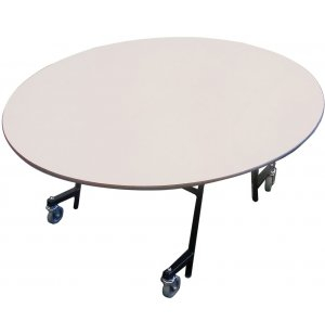 EZ-Tilt Mobile Folding Oval Cafeteria Table