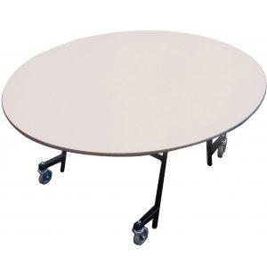 EZ-Tilt Mobile Folding Oval Cafeteria Table