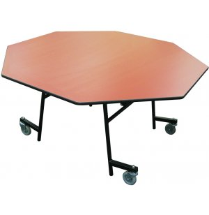EZ-Tilt Mobile Folding Octagon Cafeteria Table