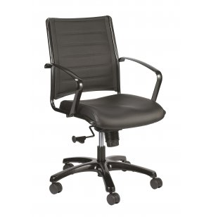 Europa Metallic Mid-Back Chair