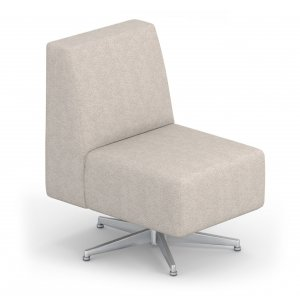 Eve Armless Reception Chair with Swivel Base - Grade 3