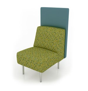 Eve Armless Reception Chair with Back Panel - Grade 5