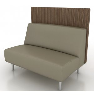 Eve Reception Loveseat with Back Panel - Grade 5