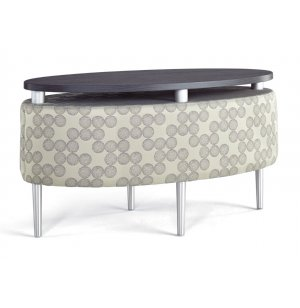Eve Oval Occasional Table with Floating Top - Grade 3