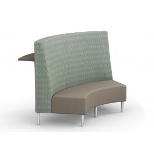 Eve Curved High-Back Loveseat with Shelf - Grade 3