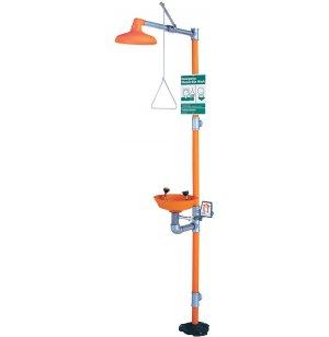 Eyewash/Shower Safety Station w/ plastic bowl