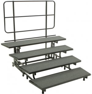 E-Z Folding Choir Riser - 4-Level