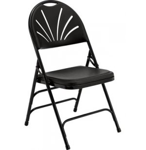 High-Comfort Lightweight Fan-Back Folding Chair