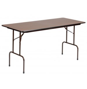 Melamine Rectangular Counter Height Folding Table