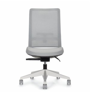 Factor Mesh High Back Armless Office Chair Premium Colors