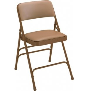 Premium Triple-Brace Vinyl Folding Chair