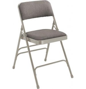 Fabric Upholstered Triple Brace Folding Chair