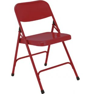 Premium All Steel Folding Chair Fire Engine Red