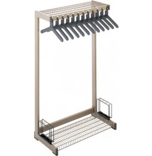 Metal Commercial Coat Rack - Boot Shelf, Umbrella Rack