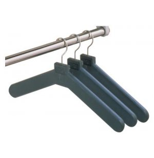 Plastic Hangers with Metal Hooks - Pack of 24