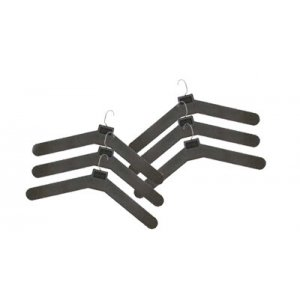 Plastic Hangers with Mini Metal Hooks - Pack of 6