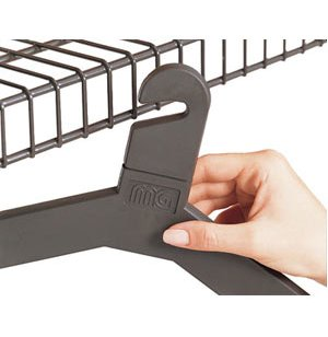 Slotted Style Plastic Hangers - Pack of 6