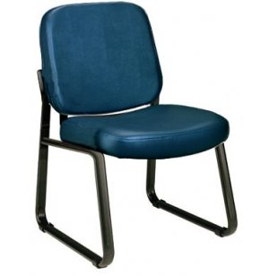 Richmond Reception Chair Armless in Vinyl