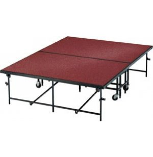 Carpeted Surface Mobile Stage