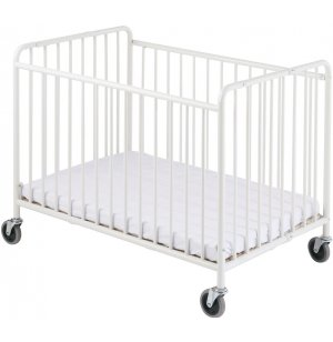 StowAway Steel Folding Crib w/Mattress