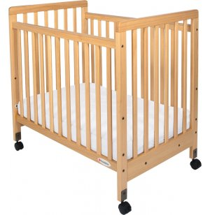 SafetyCraft Compact Fixed-Side Crib Slatted w/ Mattress