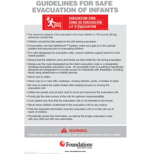 First Responder Evacuation Protocol Sign